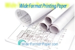"""Today's Large Oce Printing Paper 86500 20 lb Universal Bond 42""""--x--150' 4 Rolls  8650000049"""